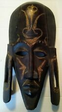 African Carved Wooden Tribal Mask - Made In Kenya