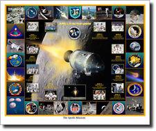 The Apollo Missions by Mark Karvon - NASA - Command & Service Module - Moon -Art