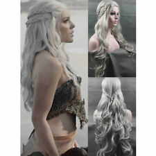 Game of Thrones Daenerys Targaryen khaleesi Wigs Silver Long Women Cosplay Wig