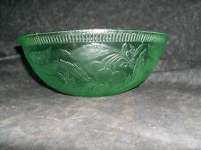 CHERRY BERRY GREEN BOWL,U.S. GLASS COMPANY