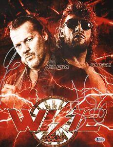 Chris Jericho Kenny Omega Signed 11x14 Photo BAS COA New Japan Pro Wrestling WWE