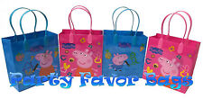 12 pcs Peppa Pig Cartoon Party Favor Bags Candy Treat Birthday Loot Gift Sack