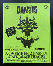 Danzig Concert Poster Type O Negative 1994 New Orleans