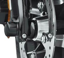Harley Davidson Domed ABS Gloss Black Front Wheel Spacers 42400018 - NEW
