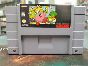 Kirby's Dream Land 3 SNES Authentic Cart Only -- S2G --