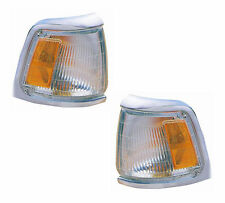 PAIR Corner Lights Chrome - Left & Right Side - Fits 89-91 Toyota Pickup 2WD