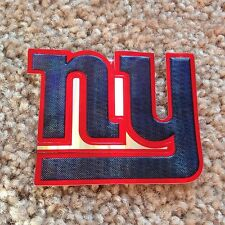 NEW YORK GIANTS 'Chrome Refractor' Embossed Aluminum STICKER/DECAL! For YETI CUP
