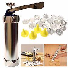 New Biscuit Maker Shaper Cake Cutter Decorating 25Pcs Cookie Press Pump Machine
