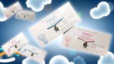 Wishing Bracelet Personalised Baby Shower  Wish Baby Feet Mum To Be Girl Boy UK