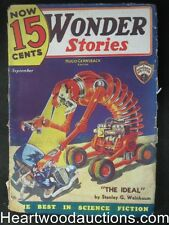 Wonder Stories Sep 1935 Robot Monster cover