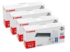 4 x Original Toner Canon LaserShot LBP-5000 / Cartridge 707 707BK 707C 707M 707Y