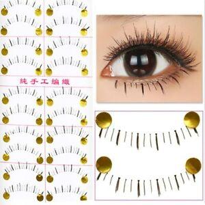 10Pairs Bottom Lashes Eyelashes Hair Natural Reusable Clear Band Lower Eyelashes