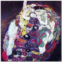 "Stunning Classic Art ~The Virgin By Gustav Klimt ~ CANVAS PRINT 24x24"""