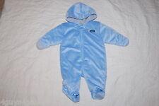 Baby Boys PRAM SNOWSUIT Baby Blue CARTERS Child Of Mine SOFT FUZZY Bear 3-6 MO