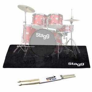 Stagg SCADRU2016 Schlagzeug-Teppich 200 x 160cm + keepdrum Drumsticks