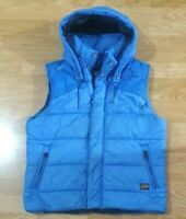 G-STAR Raw Hooded Vest Jacket Whistler Quilted Deep Blue Size L
