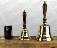 "LARGE 12"" Reception / School / Dinner / Pub Last Orders Hand Bell - BRASS"