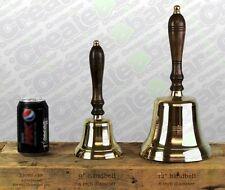 "LARGE 12"" Reception / School / Dinner / Pub Last Orders Hand Bell - BRASS"