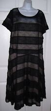 Women's Plus Size 1X Black Lace Dress Long Lined Short Sleeves 16W New