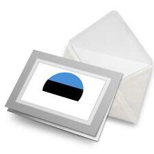 Greetings Card (Grey) - Estonia Europe Tallinn Flag  #9109