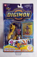 "Digimon WarGreymon Bandai 5"" Action Figure with Trading Card BRAND NEW"