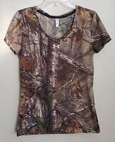 Women's Under Armour UA Threadborne Camo Camouflage RealTree Shirt Top M NWT