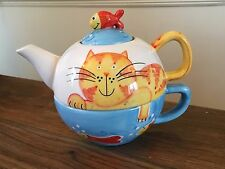 Prezzo E Kensington TEIERA TAZZA per un gatto e pesce Design