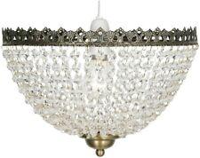 Oaks Lighting Ekon Pendant Shade, Glass Bead Antique Brass 30 cm