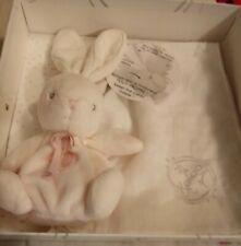 Kaloo Perle baby pink plush bunny rabbit doll and burp cloth new in gift box