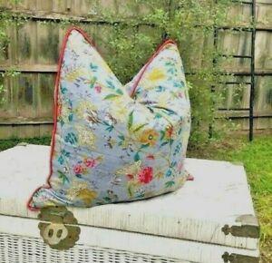 Mexican Painter Floral Cotton Cushion Cover Decorative Throw Pillow Case 50*50cm