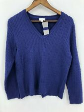 Charter Club Women's New With Tags Purple Cable Knit Sweater Size Petite L