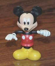 """Walt Disney """"Mickey Mouse"""" Move-able Arms 3 1/2"""" Inch Tall Figurine Toy *READ*"""