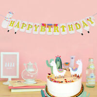 1pcs Alpaca Paper Hanging Llama Bunting Kids Happy Birthday Banner Party Decor