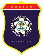 "Football Federation of Belize sticker decal 4"" x 5"""