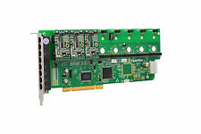 OpenVox A800P30 8 Port Analog PCI Base card + 3 FXS + 0 FXO, Ethernet (RJ45)