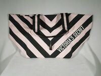 Victoria's Secret Handbag Pink and Black Striped NWT