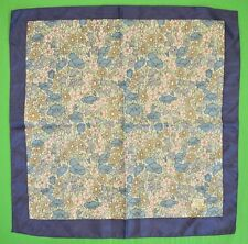 Liberty of London Blue & Pink Floral Print Pocket Square