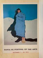 Santa Fe Festival of the Arts   1977 Art Print   Tag Board Poster   28H x 21W