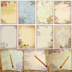 40 stationery Papers + 20 Envelopes ELTNEGSA Stationary Paper,60PCS Writing Paper Letter Set 10 Different Color Ink Painting Classic Design
