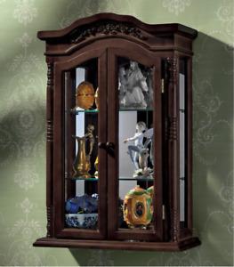 "Beacon Hill Handmade Hardwood Wall Curio 27"" Cabinet"
