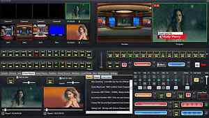 Live Streaming Software with Video switcher mixer green screen removal