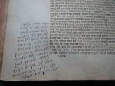 antique judaica book 1811 Handwritten Glosses Signature Manuscript Stamps Hebrew