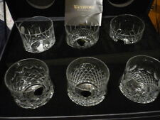WATERFORD Heritage tumblers  set/6, each one of a different pattern  NIB!