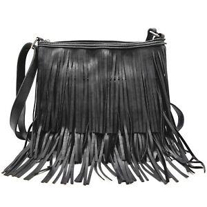 Western Fringe Cross Body Handbags Concealed Carry Purse Single Shoulder Bags
