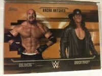 WWE Goldberg Undertaker D8 2017 Topps Undisputed Bronze Parallel Card SN 47 / 99