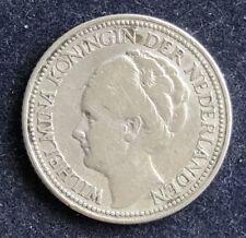 25 Cents 1928 Wilhelmina Niederlande  .640 Silber 3,6 g KM#164