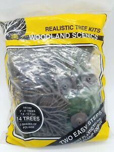 "HO SCALE WOODLAND SCENICS #TR1102 BUILDS 14 TREES FROM 3""-5"" TALL."