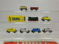 AQ941-1# 8x Schiebetrix/Minitrix Spur N Bastler-Lok/Güterwagen: Esso etc