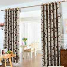 Blockout Curtains Blackout Curtain Light Latte Scroll 140cm x 230cm Free Tieback