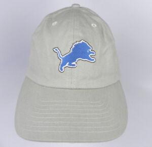 DETROIT LIONS NFL KHAKI ADJUSTABLE SLOUCH UNSTRUCTURED LOW PROFILE CAP HAT NEW!